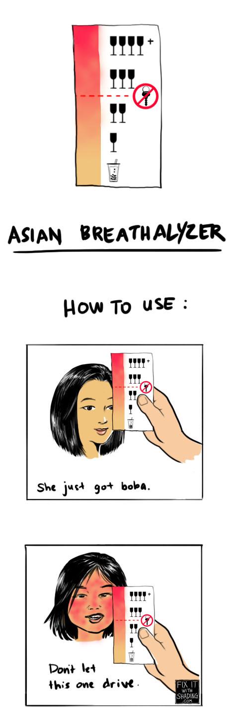 asian glow breathalyzer