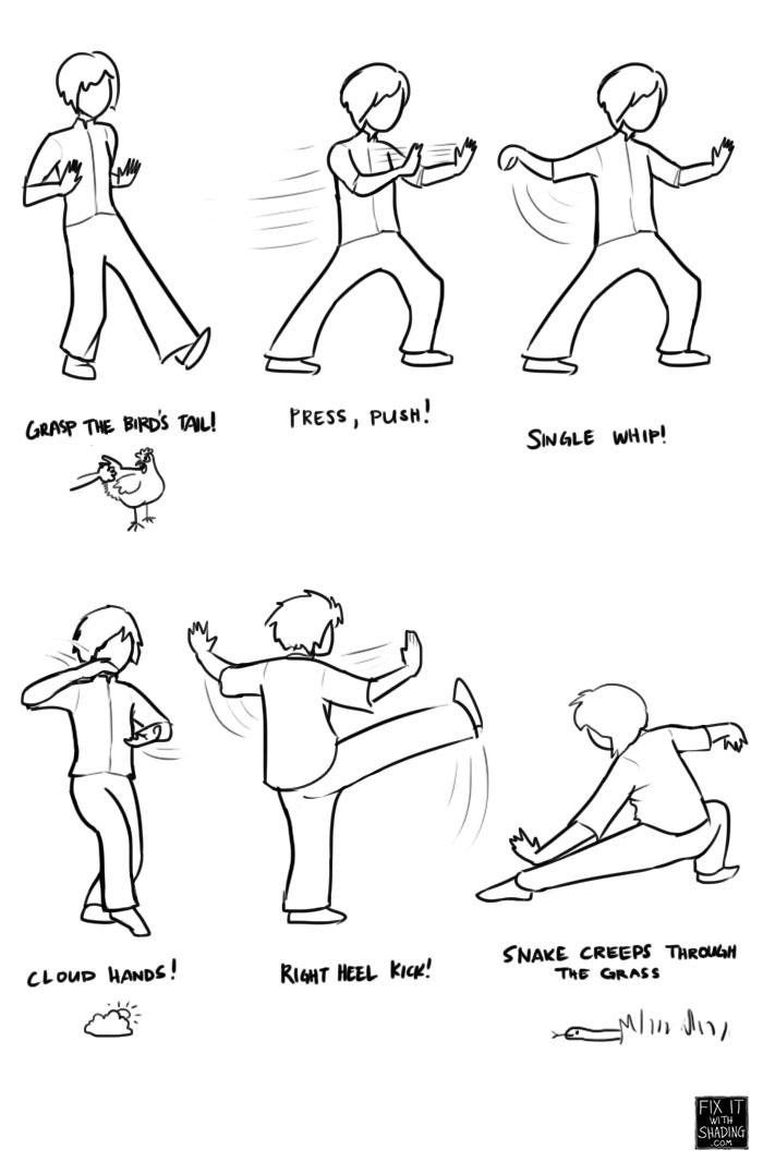 Basic tai chi moves