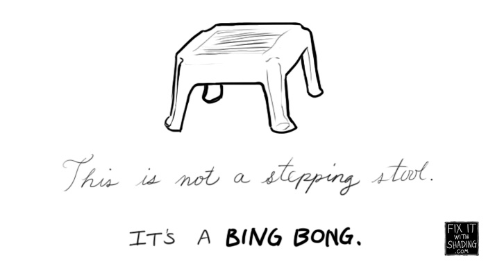 step stools are called bing bongs in my family