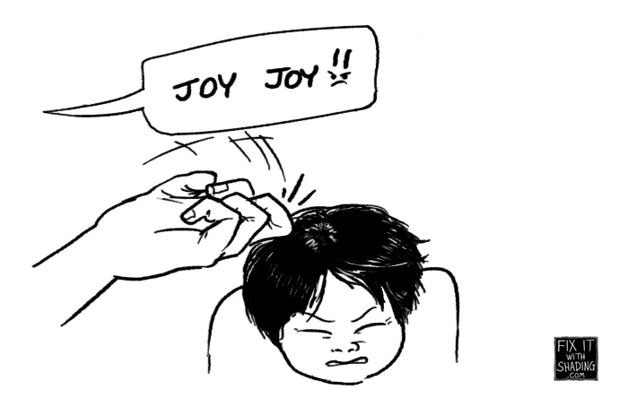 joy joy, a little abc-style corporeal punishment with the knuckle
