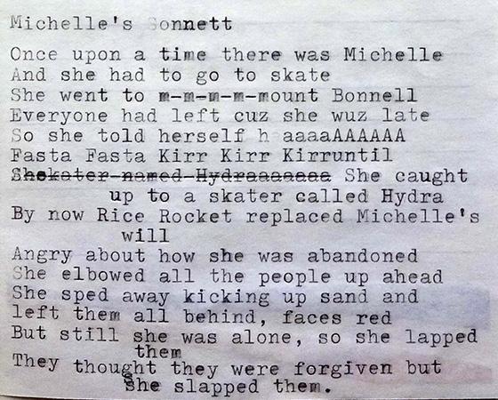Michelle's sonnet