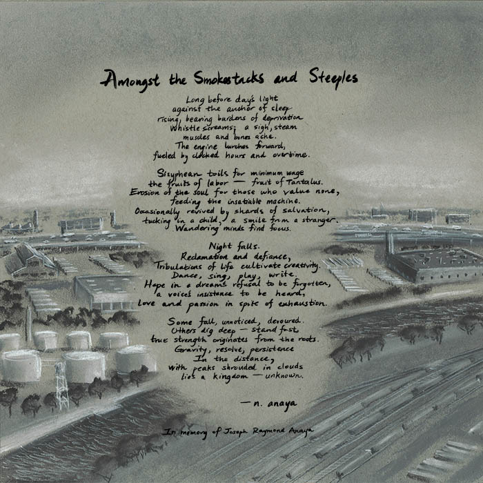 the 3.5.7 Ensemble - Amongst the Smokestacks and Steeples album cover art