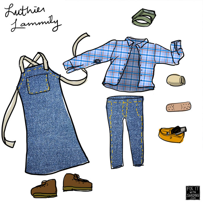 luthier lammily clothing and accessories
