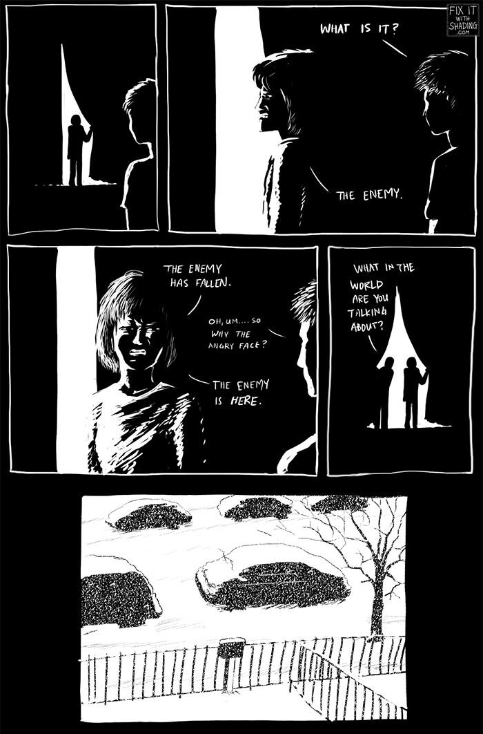 winter snow comic