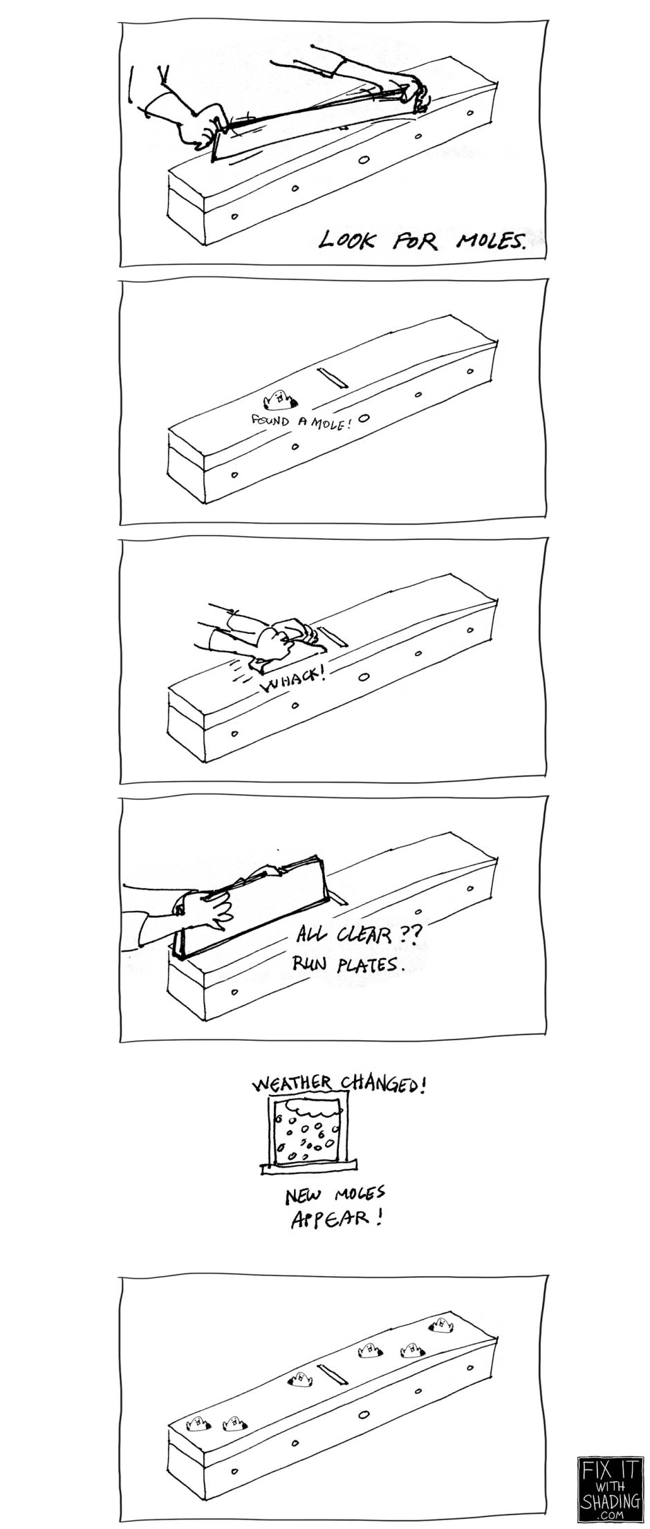 whack-a-mole with the jointing plane