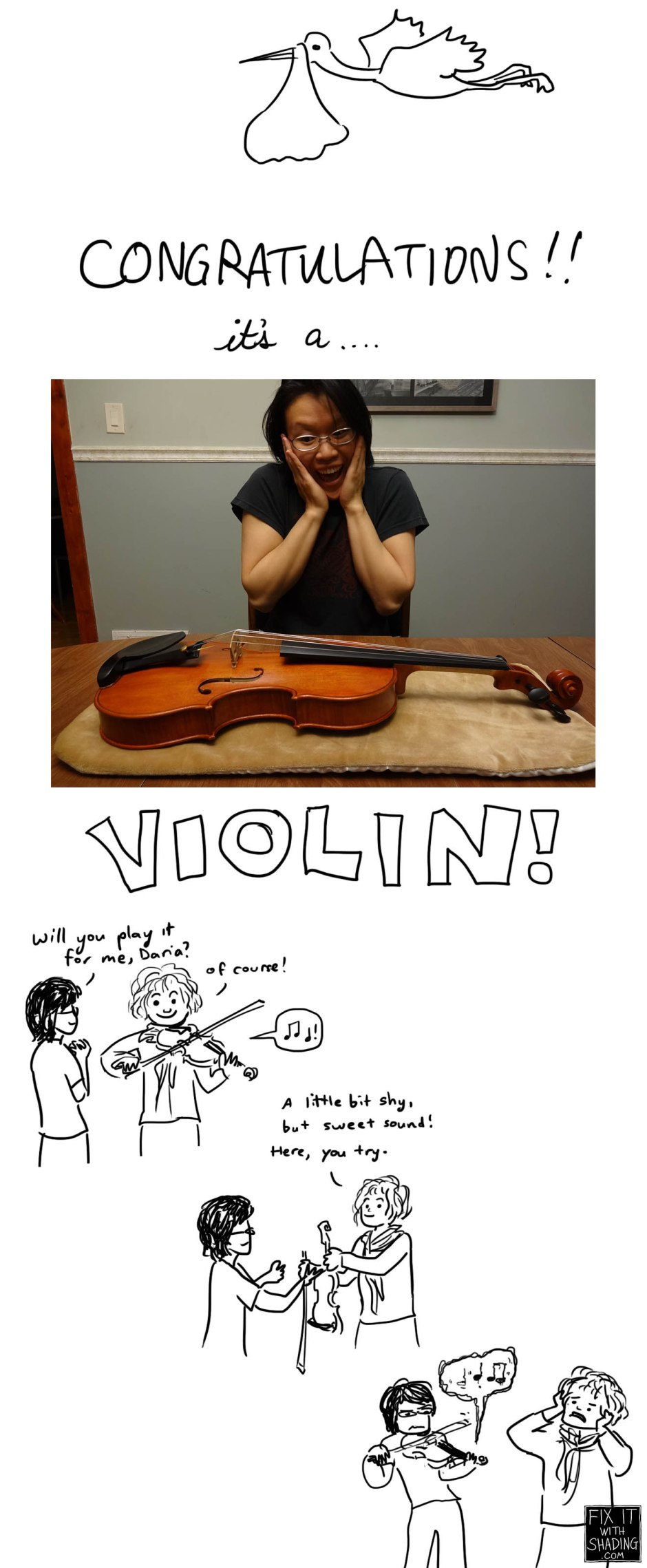 congratulations, it's a violin!
