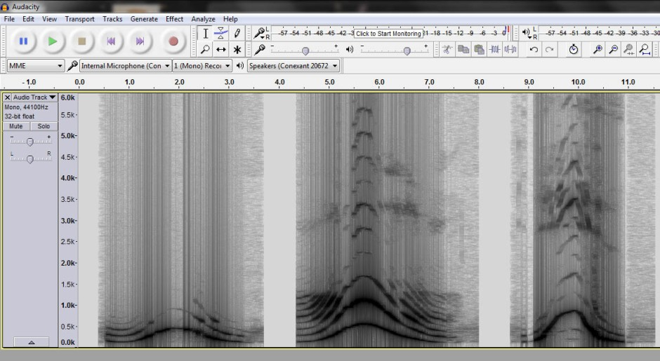 spectrogram of voice